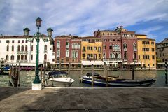 Beautiful panorama of the Grand Canal in Venice, Italy Stock Photo
