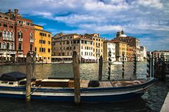 Beautiful panorama of the Grand Canal in Venice, Italy Stock Images