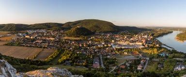 Hainburg an der Donau, Austria. Beautiful panorama of Hainburg an der Donau Stock Photography