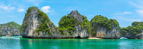 Beautiful panorama of Halong Bay Stock Image