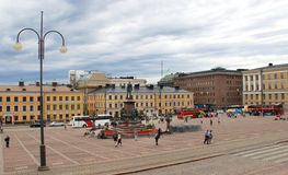 Beautiful panorama of Helsinki, Finland Royalty Free Stock Images