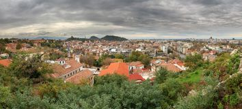 Plovdiv panorama cityscape Stock Images
