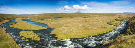 Beautiful panorama of icelandic landscape Royalty Free Stock Photos