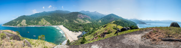Beautiful Panorama of Ilhabela tropical Island, Rio do janerio, Royalty Free Stock Image