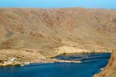 Beautiful  panorama of Kazakh mountain and lake Ili, Kazakhstan Stock Photo