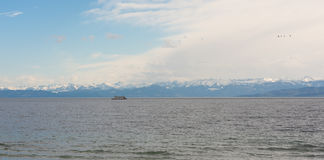 Beautiful panorama at Lake Constance royalty free stock photos