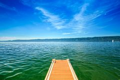 Lake Constance Bodensee. Beautiful panorama at Lake Constance Bodensee, Europe, Germany Royalty Free Stock Photography