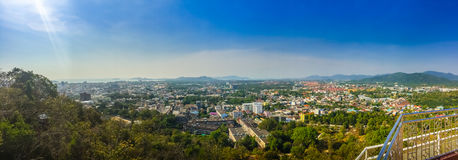 Beautiful panorama landscape in 180 degrees view of Phuket city Stock Photo