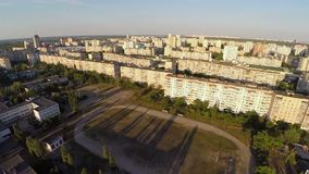 Beautiful panorama of large residential area, city aerial. Stock footage stock video footage