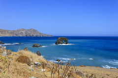 The beautiful panorama at Lendas, Crete Royalty Free Stock Image