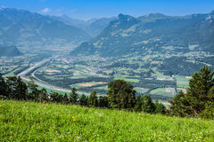 Beautiful panorama of Liechtenstein Royalty Free Stock Image