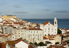 Beautiful panorama of Lisbon old city Stock Photo