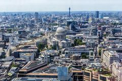 Beautiful panorama of London city taken from above, UK. Beautiful panorama of London city taken from above, United Kingdom royalty free stock images