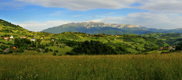 Beautiful panorama of magura village Stock Photo