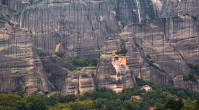 Beautiful panorama on Meteora Monasteries - wonder of Greece Royalty Free Stock Photos