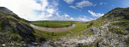 Beautiful panorama of moldavian landscape Stock Images