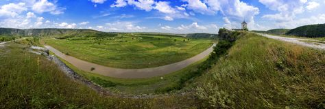Beautiful panorama of moldavian landscape Royalty Free Stock Photos