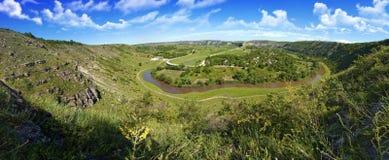 Beautiful panorama of moldavian landscape Stock Photo