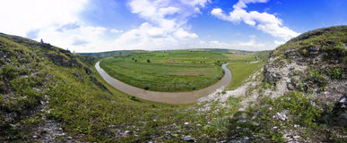 Beautiful panorama of moldavian landscape Stock Photo