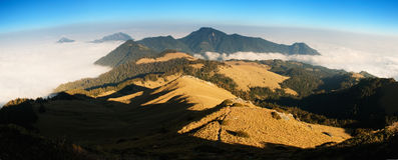 Beautiful panorama mountain landscape royalty free stock images