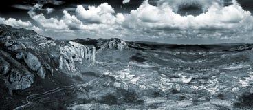 Beautiful panorama mountain landscape . Stock Images