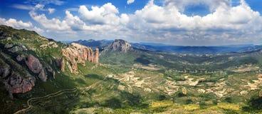 Beautiful panorama mountain landscape . Royalty Free Stock Images