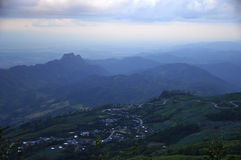 Beautiful panorama of the mountain. And beautiful sky in the morning Royalty Free Stock Images