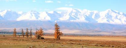 Beautiful panorama of mountain tops Stock Photo