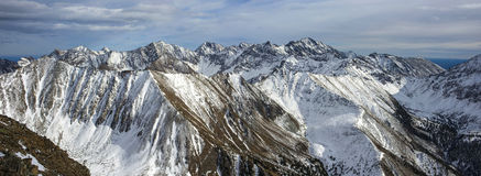 Beautiful panorama of mountains. In Russia stock photography