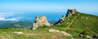 Beautiful panorama of the mountains Royalty Free Stock Image