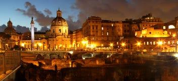 Beautiful panorama of the night Rome Royalty Free Stock Photos