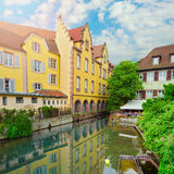 Beautiful panorama of old town Colmar, France. Stock Images