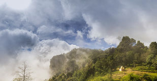 Beautiful Panorama of Pillar Rocks of Kodaikanal, Tamil Nadu, In. Beautiful Panorama of Pillar Rocks of Kodaikanal, these are set of three giant rock pillars Royalty Free Stock Image