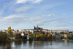 Beautiful panorama of  Prague Castle and Charles bridge Royalty Free Stock Image
