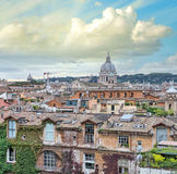 Beautiful panorama of Rome Homes and Landmarks Royalty Free Stock Photography
