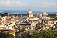 Beautiful panorama of Rome, Italy Stock Photos