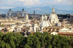 Beautiful panorama of Rome, Italy Royalty Free Stock Images