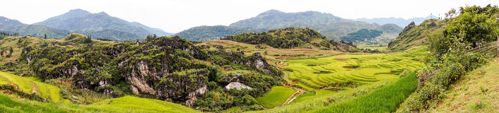 Beautiful panorama in Sa Pa, Vietnam Royalty Free Stock Photography