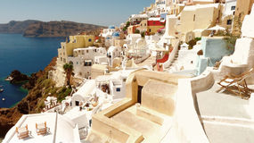 Beautiful panorama of Santorini Royalty Free Stock Photography