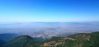 Beautiful panorama scene view of Kew Mae Pan Nature Trail in Doi Inthanon National Park, Chiang Mai , Thailand.  Stock Photos