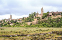 Beautiful panorama of Segovia, Spain Stock Image