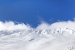 Beautiful panorama of snowy peaks Stock Photography