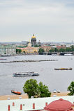 Beautiful panorama of St. Petersburg and water area of Neva river - bird's-eye view Royalty Free Stock Photography