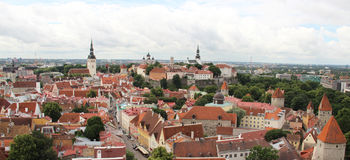 Beautiful panorama of Tallin, Estonia Royalty Free Stock Image