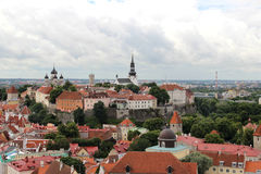 Beautiful panorama of Tallin, Estonia Royalty Free Stock Photography