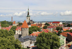 Beautiful panorama of Tallin, Estonia stock image