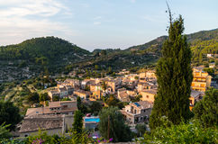 Beautiful panorama of the town Estellencs on Mallorca, Spain Stock Photography