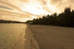 Beautiful panorama of tropical sunset Stock Photos
