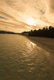 Beautiful panorama of tropical sunset Royalty Free Stock Photography
