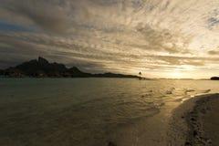 Beautiful panorama of tropical sunset Stock Photography